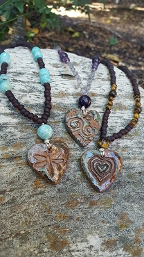 Collection of aromatherapy necklaces